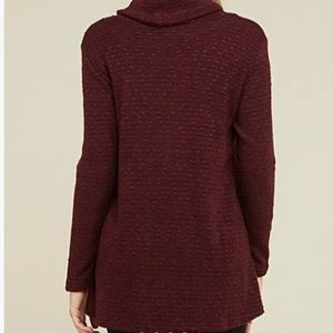 First Look Sweaters - First Look Textured Cowl Neck Light Sweater Large